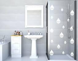 showers rain water shower door stickers of drops adhesive glass screen transfers rainwater head