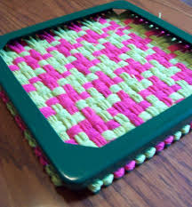 Potholder Loom Patterns Simple The Philosopher's Wife Pot Holder Loom Weaving How To Houndstooth