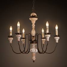 get ations american country wood chandelier cafe french baroque 6 head wax candle chandelier antique wood to do