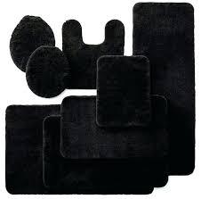 bath rug sets plush bathroom rug sets ad royal velvet bath collection black