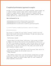 Performance Reviews Samples Self Evaluation Examples Annual Assessment Sample Performance Review