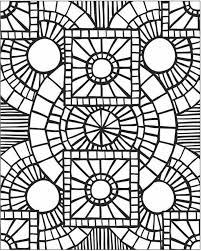 Mosaics Coloring Pages Traditional Islamic Mosaic Coloring Page Free