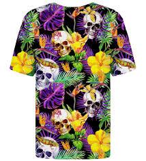 Shirt Design Flower Skulls In Flowers T Shirt