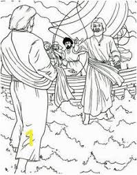 Jesus Walks On The Water Coloring Page