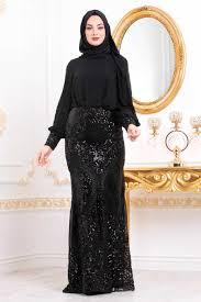 Neva Style Black Hijab Evening Dress 45820s Neva Style