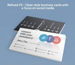 Social Media Business Card Template Arts Arts