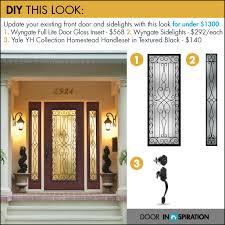 diy front door design wrought iron