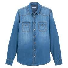 <b>Рубашка джинсовая</b> прямого покроя с длинными рукавами <b>La</b> ...