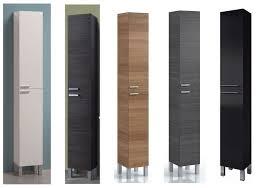 tall bathroom storage cabinets. Koncept Tall Narrow Bathroom Cupboard Storage Cabinet Soft Gloss Cabinets