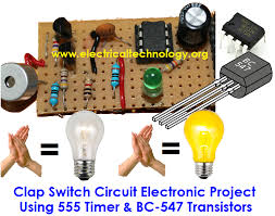 switch circuit electronic project using 555 timer clap switch circuit electronic project using 555 timer bc 547 transistors