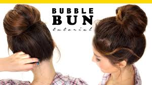 5 Minute Hairstyles For Girls 2 Minute Bubble Bun Hairstyle Easy Hairstyles For Medium Long