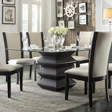 havre dark espresso dining table with glass top