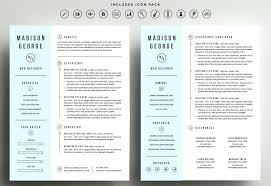 Pages Resume Templates Free Enchanting One Page Resume Format Download One Page Resume Examples Free