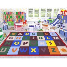 kids area rugs 5x7 kids 5 x 7 alphabet classroom bedroom play area carpet rug home
