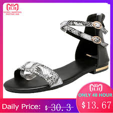 MORAZORA <b>Plus size 34 43 new</b> women sandals genuine leather + ...