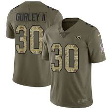 30 Black To Service6011738 camo T-shirt Todd Gurley Rams Los Salute Jersey Football Angeles