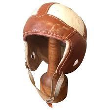 old leather football helmet