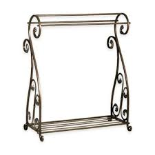 Buy Quilt Rack from Bed Bath & Beyond & Metal Quilt Rack with Bottom Shelf in Aged Gold Adamdwight.com