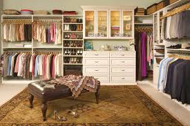 Antique White Walk-In Closet Design