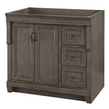 naples 36 in w bath vanity cabinet only in distressed grey with right hand drawers