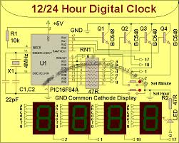 simple led clock circuit diagram meetcolab simple led clock circuit diagram