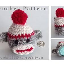 sock monkey eos lip balm holder pdf crochet pattern