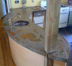 Poured Concrete Kitchen Floor Pouring Your Own Concrete Countertop Ethyria