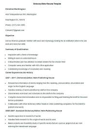 Dictionary Resume Writing in Resume Dictionary