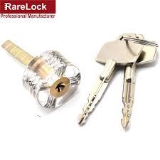 Rarelock 6pcs Transparent Visible Cutaway Practice Padlock Door ...