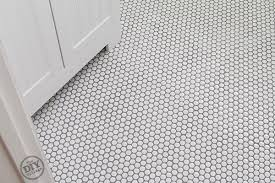 Marvelous Penny Tile Bathroom Floor and How To Install Penny Tile The Diy  Village