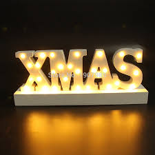 Wooden Christmas Sign With Lights White Wooden Xmas Letter Light Led Marquee Sign Light Up
