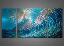 metal art paintings wave metal wall art painting 48x24in i had forgotten about the