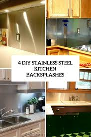 Kitchen Backsplash Diy 4 Functional Diy Stainless Steel Kitchen Backsplashes Shelterness