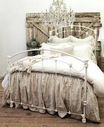 Farmhouse Bedroom Chandelier Drop Cloth Bedding In Modern Rustic Farmhouse  Bedroom With Beautiful Chandelier And Barn Door Headboard Bedroom Decor Sets