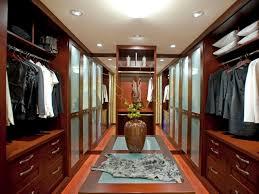 Modern Master Walk In Closet Design Ideas With Wooden Furniture