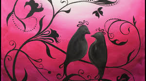 whimsical lovebirds step by step acrylic painting on canvas for beginners you
