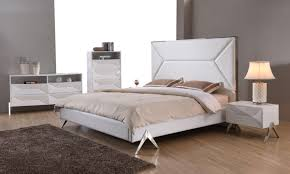 High Gloss White Lacquer Bedroom Furniture Set - Zuo Modern