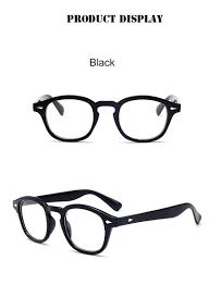 إطار نظارة على طراز جوني ديب كلاسيكي للرجال والنساء تصميم كلاسيكي بعدسات  شفافة نظارة حفلات بإطار