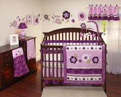 baby crib bedding sets for girls pink and purple