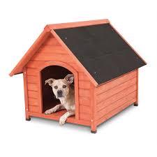 doskocil peak wood dog house for medium dogs 50 70 lbs