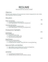 Basic Resume Samples Easy Examples Easy Resume Template Pdf