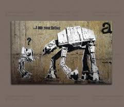 banksy street art i m your father home decor wall art painting canvas artwork wall art canvas prints decorative pictures on home decor wall art nz with painted decorative wall panel artwork nz buy new painted