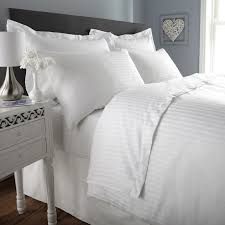 300 tc duvet cover double size premium cotton striped duvet comforter cover with zipper 90 x 100 inches white ahmedabad cotton