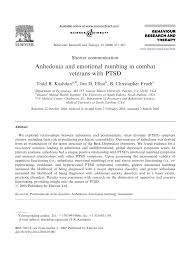 Va Ptsd Rating Chart Pdf Anhedonia And Emotional Numbing In Combat Veterans With