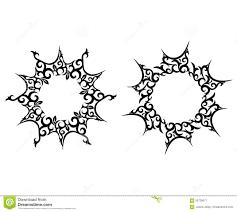 абстрактное солнце татуировка цветка иллюстрация вектора