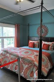 Light Gray And Teal Bedroom