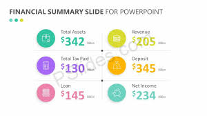 Powerpoint Financial Financial Summary Slide For Powerpoint Pslides