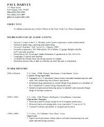 Military Police Resume Awesome Sample Police Officer Resume Police Officer Resume Examples The