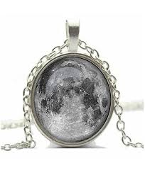 chop mall moon pendant necklace full moon galaxy glass cabochon necklace cb11u5sb5fd