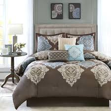 aqua and brown bedding beautiful modern elegant brown blue aqua ivory beige comforter set w pillows aqua and brown crib bedding